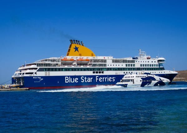Blue Star Ferry Athens Santorini