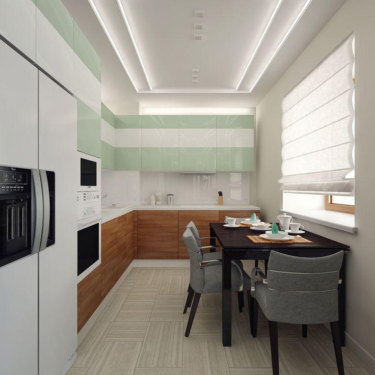 Kitchen_1 Design (Мятная кухня)