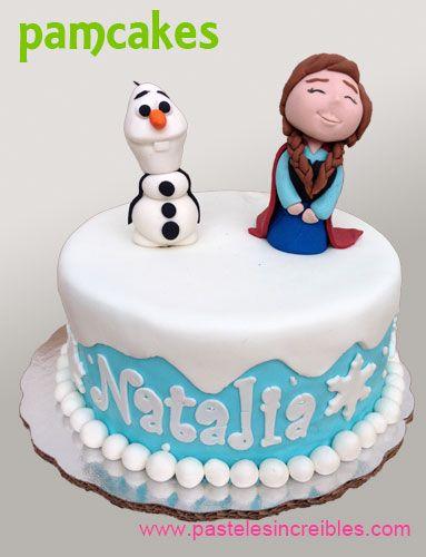 Pastel de Anna y Olaf