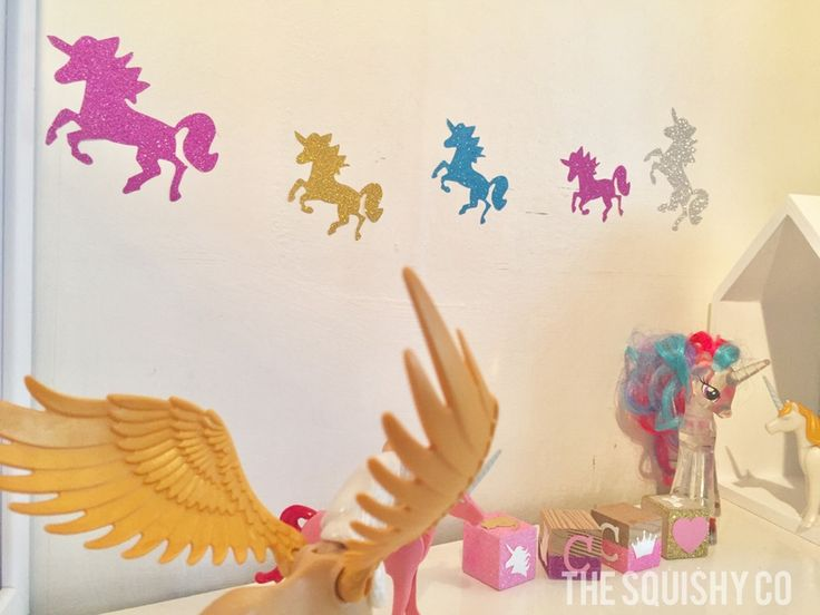 Image of Animal wall decals - rabbits & butteflies, unicorns, star fish and dinosaurs