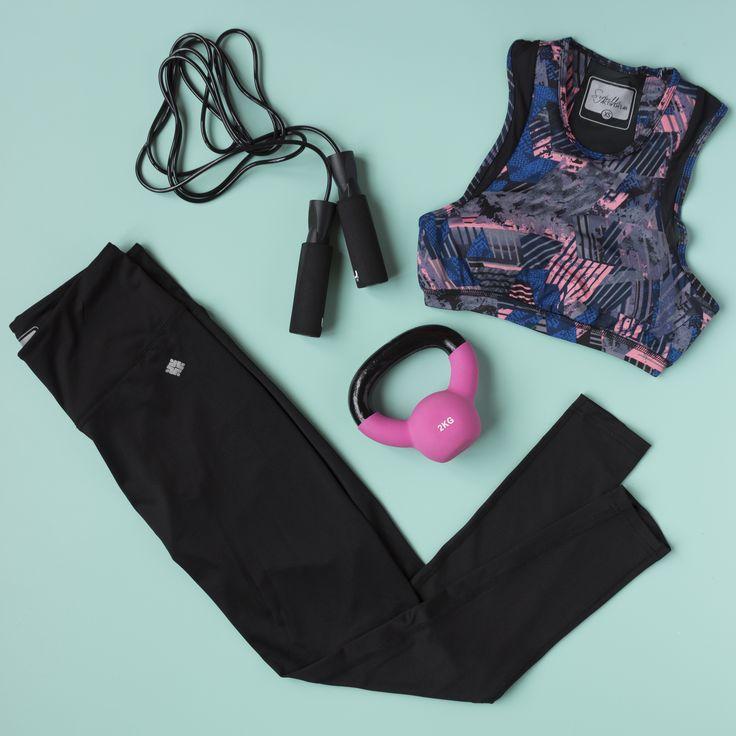 Sport flatlay for Sybilla, a teen fashion brand.