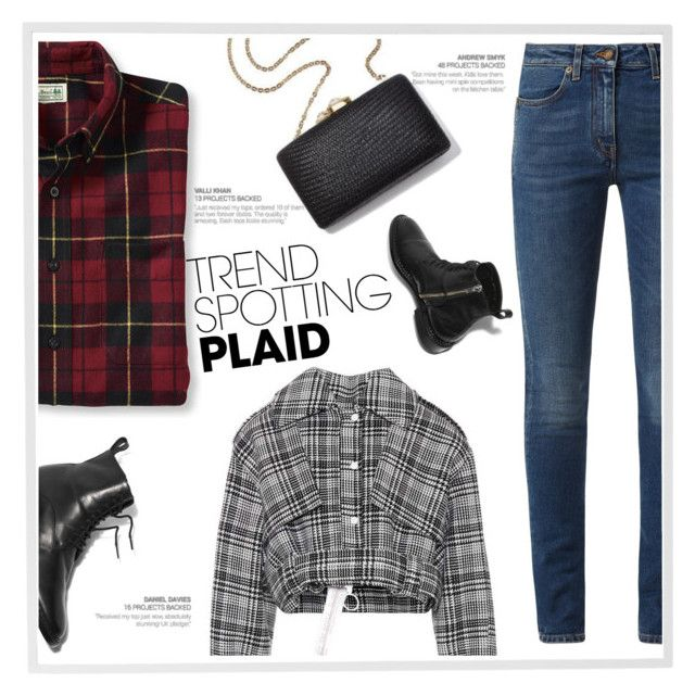Win It! Plaid by ladydzsen on Polyvore featuring polyvore, fashion, style, Off-White, Yves Saint Laurent, Menu, clothing, contestentry and NYFWPlaid