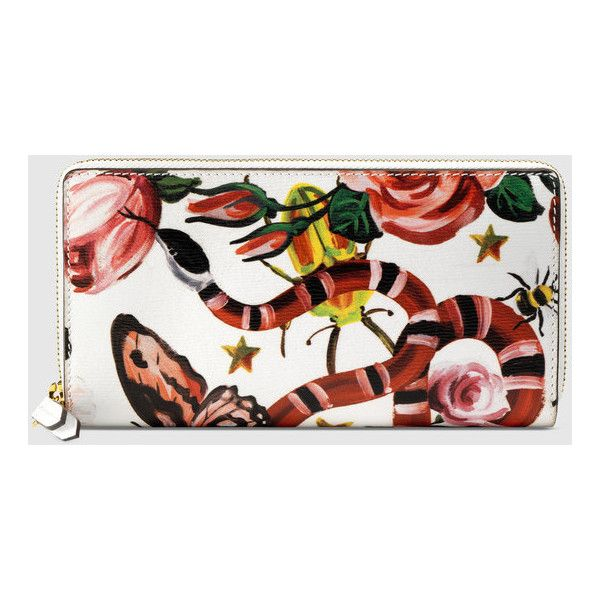 Gucci Garden Exclusive Zip Around Wallet ($690) ❤ liked on Polyvore featuring bags, wallets, gucci, butterfly wallet, flower wallet, gucci bags and gucci wallet