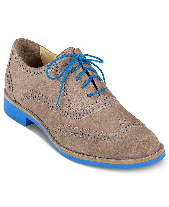 Cole Haan Women's Shoes, Alisa Oxfords - All Women's Shoes - Shoes -  Macy's. Not my style, but surprising bottom colour.