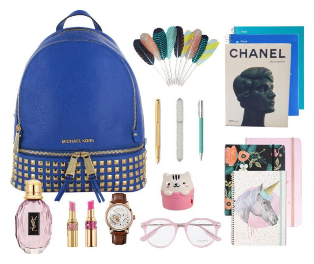 """""""Back to school #lovelife #newbeginnings"""" by vonevenseth on Polyvore featuring Chanel, Rifle Paper Co, HAY, Caran D'Ache, Faber-Castell, M&Co, Jason Wu, Yves Saint Laurent and Alexander McQueen"""