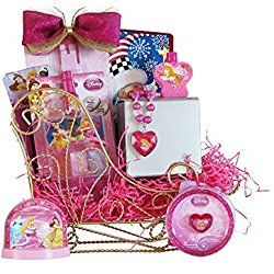 Disney Princess Sleigh Valentines Day Gift Baskets for Girls Perfect Valentine Gift for Girls 3 to 6 Years Old