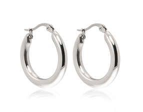 Náušnice chirurgická ocel kroužky široké #šperky #jewelry #earrings