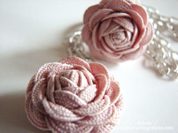 Flower rosettes made using rick rack!