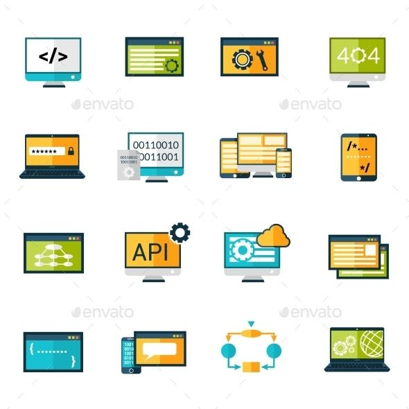 Programming Icons Set | Download: http://graphicriver.net/item/programming-icons-set/10335023?ref=ksioks