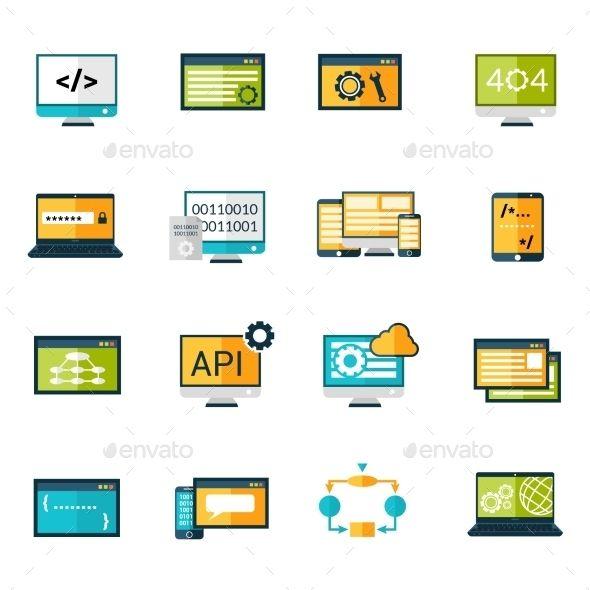 Programming Icons Set | Download: http://graphicriver.net/item/programming-icons-set/10335023?ref=ksioks