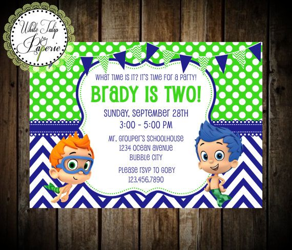 28 best images about Bubble Guppies party – Bubble Guppies Party Invites