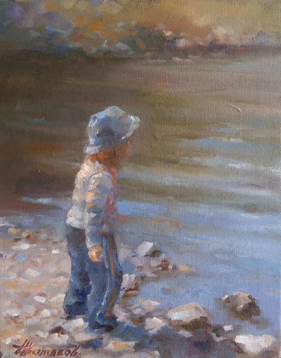 Buy Playing by the water (8x10''), Oil painting by Alexander Koltakov on Artfinder. Discover thousands of other original paintings, prints, sculptures and photography from independent artists.