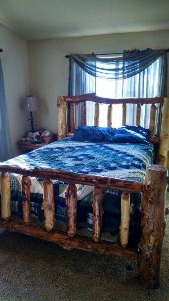 aspen log bedroom sets queen sized bed dad