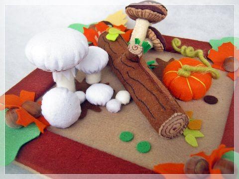 A gombák földjén- asztal dísz, Otthon, lakberendezés, Dekoráció, Dísz, Ünnepi dekoráció, Meska