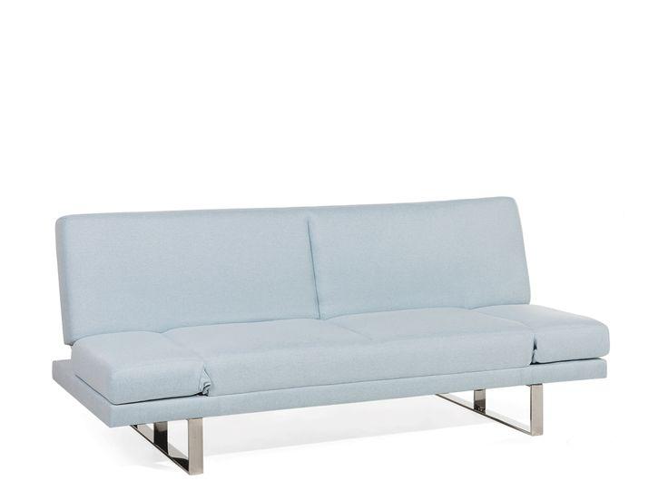 Sofa Hellblau - Schlafsofa - Couch - Bettsofa - Funktionssofa - Klappsofa - YORK ✓ Kauf auf Rechnung mit 365 Tage Rückgaberecht