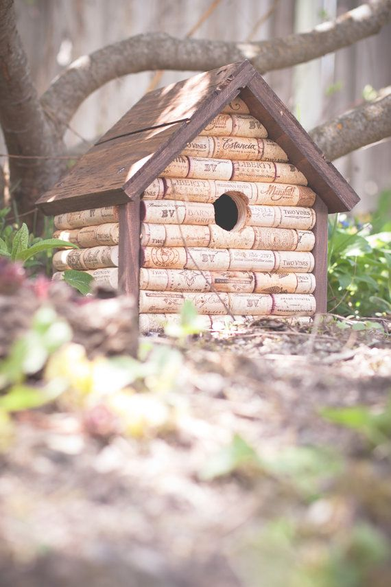 Hey, I found this really awesome Etsy listing at https://www.etsy.com/listing/155032799/wine-cork-birdhouse-handmade-decorative