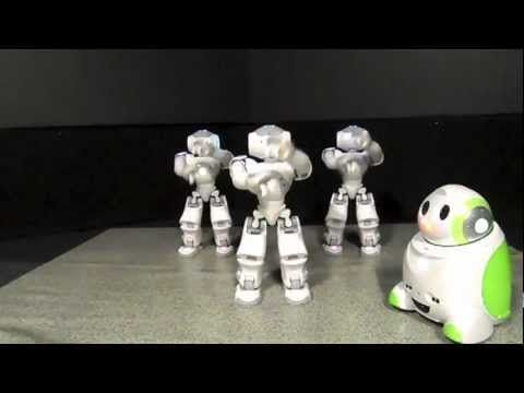 |Nao Robot Dances Gangnam Style| He re-enacts the dance moves. (2 years old)