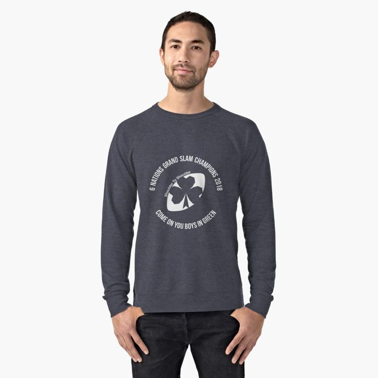 Ireland Grand Slam 2018 lightweight sweatshirt by Fimbis    _________________________________   Ireland, Irish, Ulster, Connacht, Leinster, Munster, shamrock, Irish rugby, rugby world cup, 6 nations, coybig, coygig, wrwc, 6 nations grand slam champions 2018, Kieth Earls, Rory Best, Jacob Stockdale, Sean Cronin, Tadhg Furlong, Cian Healy, CJ Stander, Conor Murray, Jonathan Sexton, Garry Ringrose, Rob Kearney, sweater, sweatshirt, apparel, clothing,