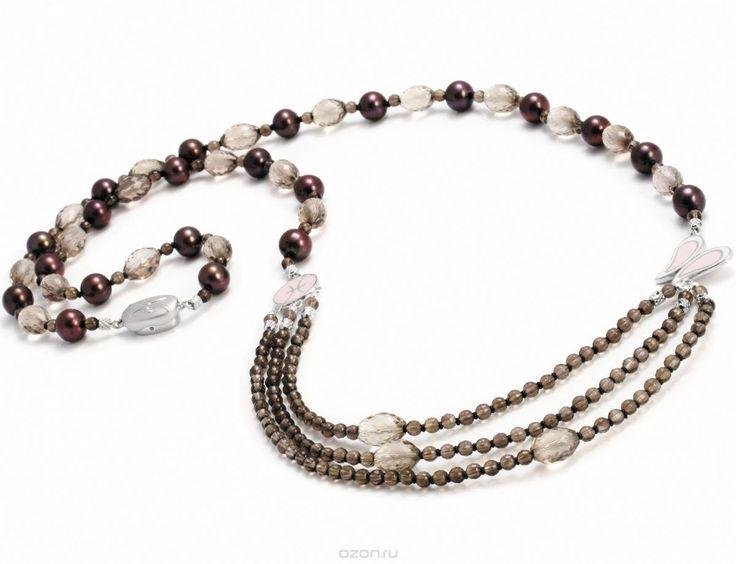 Ожерелье Дымчатый кварц из пресноводного жемчуга nasonpearl 659 купить в…
