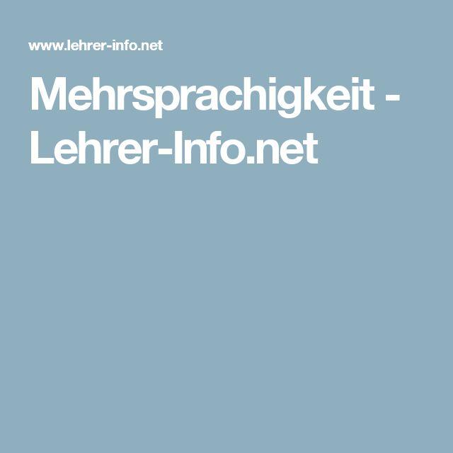 Mehrsprachigkeit - Lehrer-Info.net