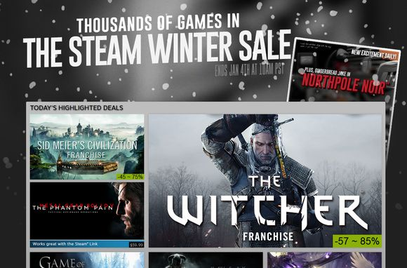 Steam Winter Sale kicks off with deals on The Witcher 3, Metal...: Steam Winter Sale kicks off with deals on The Witcher… #SteamWinterSale