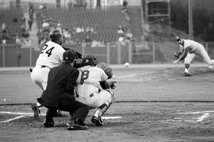 May 5, 1966 at Candlestick Park: Sandy Koufax pitching to Willie Mays.