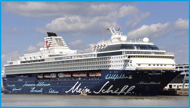 MEIN SCHIFF 2. Ιδιοκτησία: TUI Cruises Gmbh - Germany. (Beneficial owner: TUI AG. - Germany). Εκμετάλευση: TUI Cruises (joint venture between Royal Carribean Cruises Ltd. 50% & TUI AG 50%). Παρθενικό ταξίδι σις 27/10/1997. Mercury 27/10/1997 ~ 2008. Celebrity Mercury 2008 ~ 2011. 77.302 GT ~ 263,90 m.m. ~ 32,13 μ.πλάτος ~ 11 κατ/τα ~ 21,5 knots ~ 1.912 ~ 2.102 επ. ~ 909 ατ. πλ.