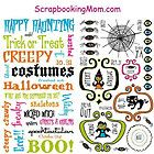Reminisce 10 31 HALLOWEEN Rub ons Scrapbooking Cardmaking Paper Crafts x2 Sheets