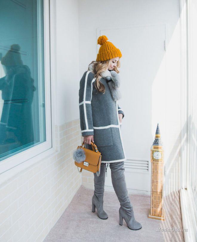 с чем носить высокие сапоги, высокие сапоги с пальто