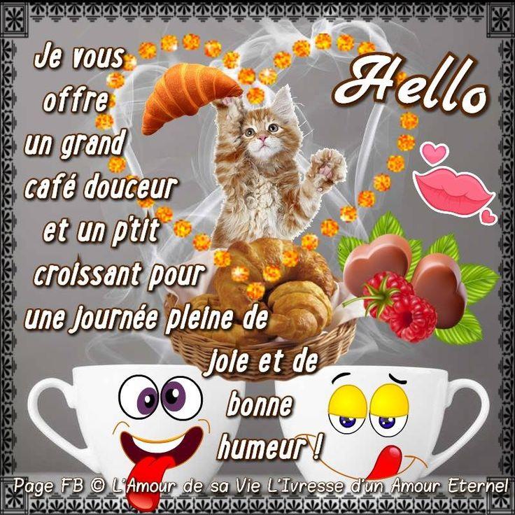 Hello ! Je vous offre un grand café douceur et un p'tit croissant pour une journée pleine de joie et de bonne humeur !
