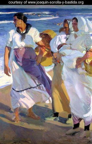 Valencian Fisherwomen, 1915    Joaquin Sorolla y Bastida