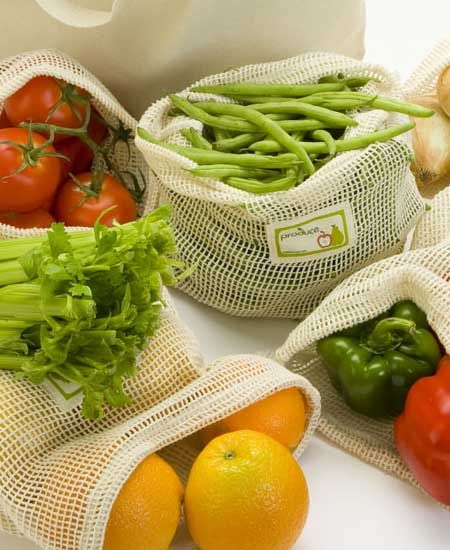 cotton mesh produce bags from gogreeninstages.com  $4.95