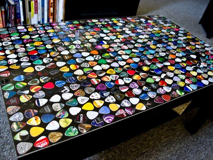 Guitar Pick Table  http://imgur.com/a/jpWI9