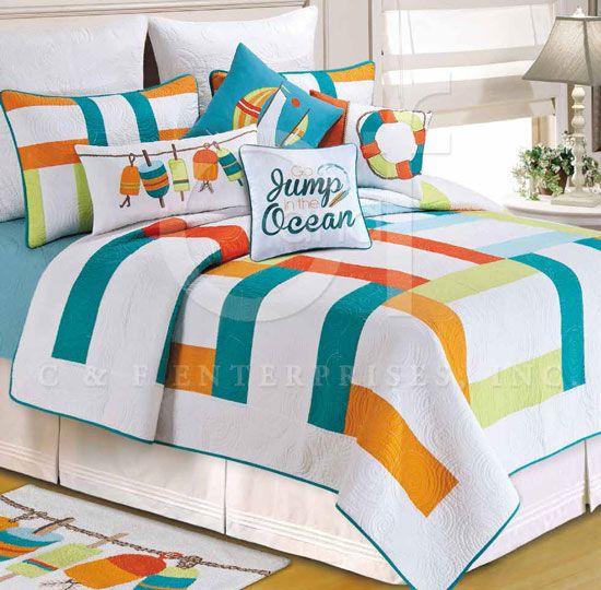 Zuma Quilt bedding by C & F Enterprises | PC Fallon Co.