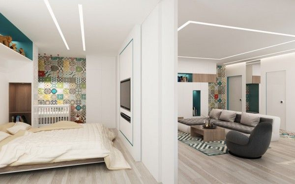 4 Small Studio Apartments Decorated In 4 Different Styles All Under 50 Square Meters With Floor