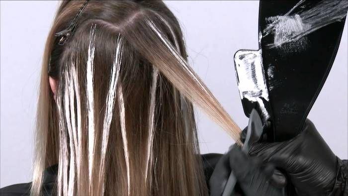 Haare machen highlights selber Balayage selber