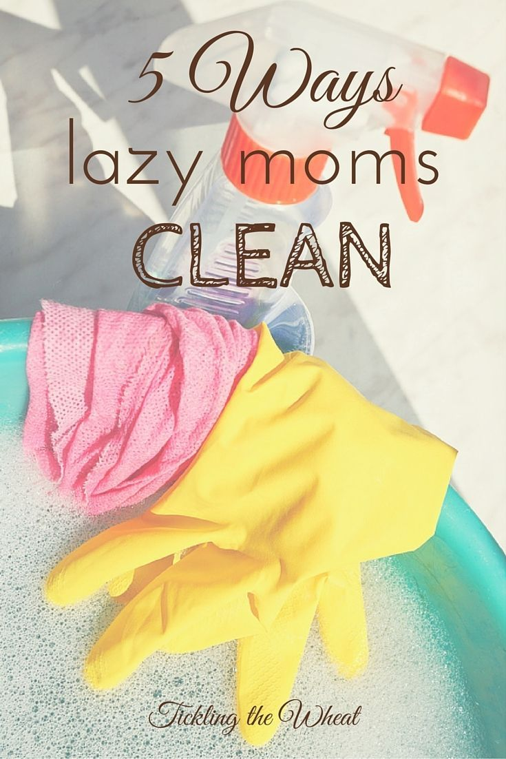 When you have kids, any amount of cleaning improves the situation. These are fast and easy tips to quickly clean! The 5 Shocking Ways Lazy Moms Clean