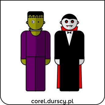 Frankenstein vs. Dracula - dziś trochę demonicznie.  #corel_durscy_pl #durskirysuje #corel #coreldraw #vector #vectorart #illustration #creative #creativity #visualart #visualdesign #graphicdesign #art #digitalart #graphics #flatdesign #artist #inspiration #frankenstein #dracula #horror
