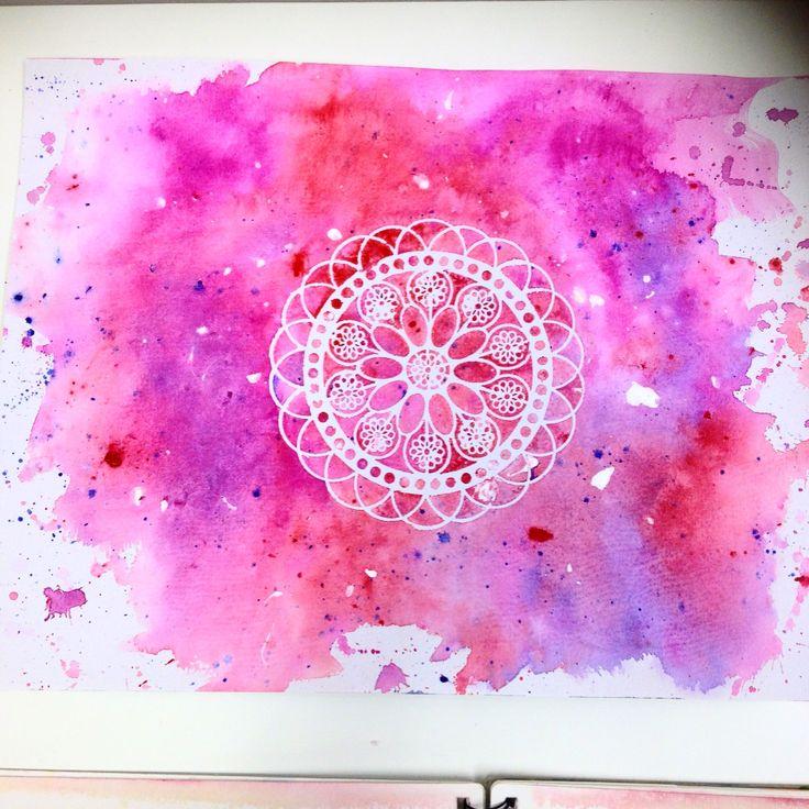 Watercolour Stencil Design Print