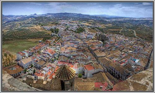 Vista desde el castillo de Olvera, Cádiz, Andalucía 🌙