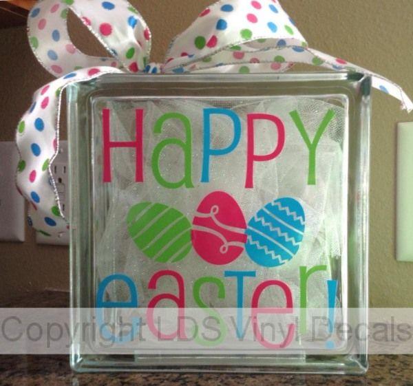 16 Best Easter Glass Blocks Images On Pinterest Glass
