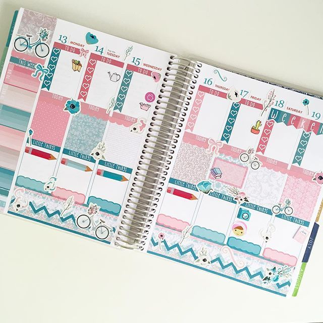 This week is looking super pretty! I've used the January mystery kit from @elliebethdesignsuk and it is stunning