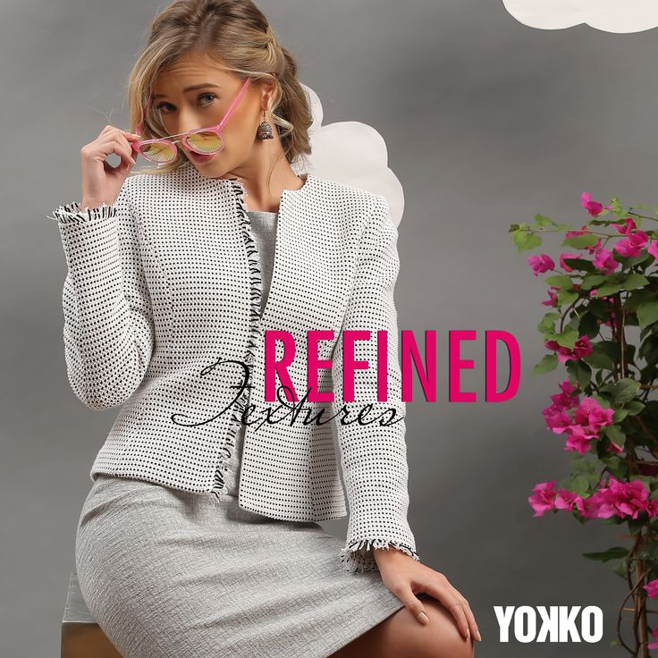 Discover the REFINED TEXTURES in the Spring Collection 18! #yokko #spring18 #refinedtextures