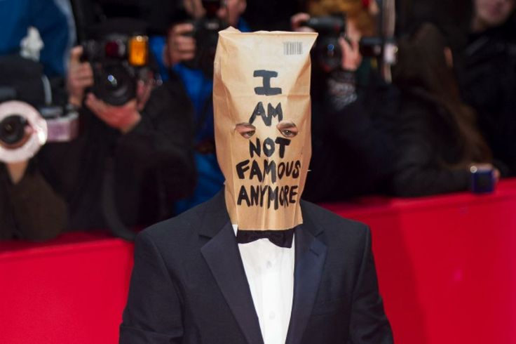 Shia LaBeouf with paper bag at 'Nymphomaniac Volume I' premiere in Berlin