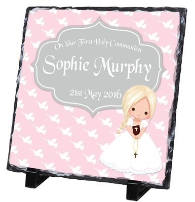 Personalised Communion Slate is a beautiful keepsake of a special day that will be treasured forever! €39.99 | WowWee.ie