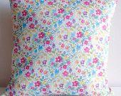 Liberty 'Rochester' Cushion Cover - Decorative Throw Pillow Cover - Home Decor Gift Idea - Linen Fabric Back - Handmade in Australia.  Shop Rhapsody and Thread via Etsy.