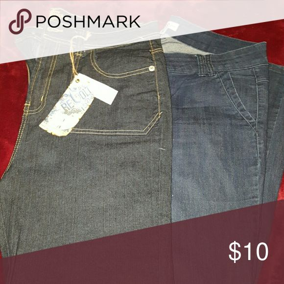 🌟BOGO PROMO🌟 Plus Jean bundle, Size 18 1 Gently worn, 1 brand NWT, overall nice jeans.   🌟BUY 1 GET 1 FREE🌟 APPLIES TO ALL ITEMS IN MY CLOSET THAT SAY *BOGO PROMO*. NO OFFERS OR BUNDLED DISCOUNTS WILL BE ACCEPTED FOR THIS PROMOTION.  (JUST MESSAGE ME THE FREE ITEM YOU WOULD LIKE ADDED WITH YOUR PURCHASE). Jeans Straight Leg