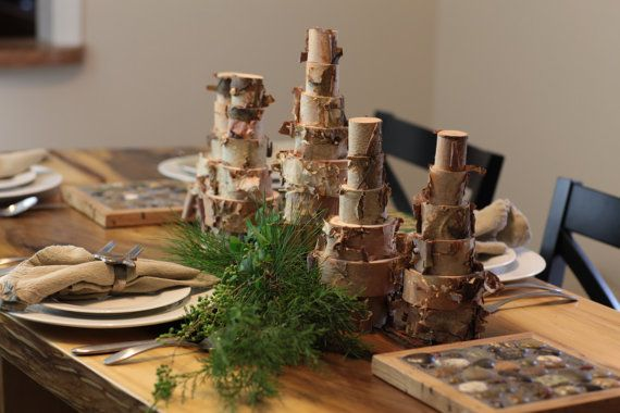 Want to impress your guests with a stunningly rugged and refined centerpiece?    This Birch Christmas Tree measures approximately 9 tall. Each