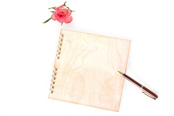 wooden cover blank album, small unfinished spiral bound planner guestbook journal photo album scrapbooking gift, rustic modern minimalist