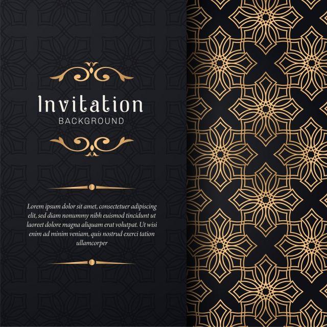 Pin By Ahmed Alabdullah On دعوة زواج Wedding Invitations Vintage Elegant Background Patterns Card Design